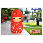 เคส iPhone5/5s - Japan doll สีแดง