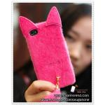 เคส iPhone5 หางแมว - สีชมพูเข้ม