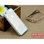 เคส iPhone SE - เคสเพชร BVLGARI สีเงิน