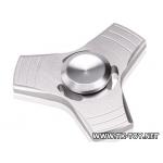 Fidget Finger Hand Spinner UFO สีเงิน [FS-01] พร้อมกล่องอลูมิเนียม