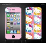 ฟิล์มกันรอย iPhone4/4s ลายการ์ตูนหน้าหลัง - ลาย Kitty ตาราง