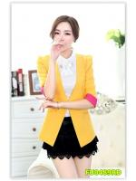 พรีออเดอร์ เสื้อสูท/blazer สีเหลือง มีไซด์ S/M/L