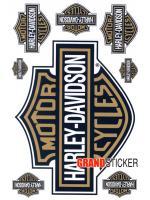 สติ๊กเกอร์ Harley Davidson ทอง