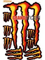 สติ๊กเกอร์ Monster 4 แดง