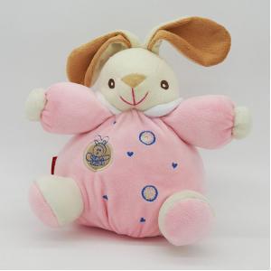 ตุ๊กตากระต่ายกรุ๋งกริ๋งสำหรับเด็กอ่อน สีชมพู