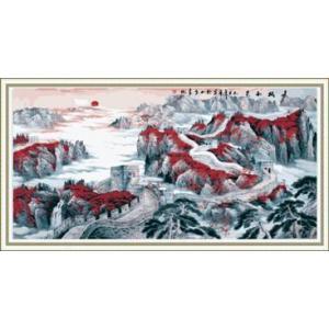 """LL005 ภาพระบายสีตามตัวเลข """"กำแพงเมืองจีน"""""""