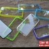 เคส iPhone5c - ขอบสีหลังใส กันรอยขีดข่วน