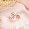 (พร้อมส่ง)แหวนแฟชั่น-ช่อดอกไม้-สีชมพู