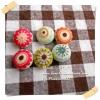 PWBFlower1 : กระดุมปั๊มผ้าอเมริกา 1 ชุด ชุดดอกไม้ ขนาด 1 cm 1 แพคตามภาพค่ะ 6 เม็ด