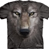 The Big Face Wolf Face T-shirts