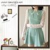 Dress050-ดรสแฟชั่นเกาหลี ผ้าชีฟอง แต่งคอปก 2 ชั้น มีซิปซ่อนด้านหลัง ไม่มีซับใน สีฟ้าพาสเทล *สินค้าจริงโทนสีสว่างกว่าในรูป  อก32-34((สินค้าพร้อมส่ง))