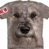 Mountain Big Face Miniature Schnauzer Dog T-Shirts
