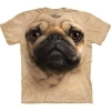 The Mountain Big-Face Pug Dog T-Shirts