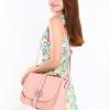 (พร้อมส่ง)กระเป๋าหนัง บุลายตาราง สีชมพูอ่อน ทรงสวย ไฮโซ กระเป๋าแฟชั่น แบรนด์ Axixi