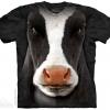 เสื้อยืด3Dสุดแนว(BLACK COW FACE T-SHIRT)
