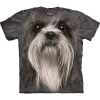 The Mountain Big Face Shih Tzu Dog T-Shirts