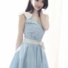 (พร้อมส่ง)ชุดเดรส สีฟ้า ผ้ายีนส์บาง แต่งลูกปัด+โบว์ไข่มุก น่ารัก สวยใส