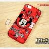 เคสiPhone5c - TPU ลายการ์ตูน มินนี่เม้าส์สีแดง