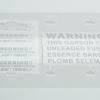 SETสติ๊กเกอร์ D.A.D Garson Warning 5ชิ้น สีเงินเกล็ดเงิน