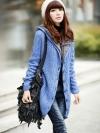 พรีออเดอร์ เสื้อกันหนาว/เสื้อไหมพรม/เสื้อแขนยาว สีน้ำเงิน