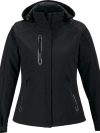 AXIS LADIES' SOFT SHELL JACKET WITH PRINT GRAPHIC ACCENTS