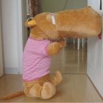 ตุ๊กตาฮิปโป หน้าตากวนๆๆๆ ประกอบซีรี่ย์ Smile again ขนาด 1.4 เมตร เสื้อสีชมพู