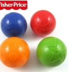 ลูกบอล fisher price เสริมพัฒนาการ เขย่าฟังเสียงกรุ๊งกริ๊ง ลอยน้ำได้ มีสีส้ม และ น้ำเงิน (ราคานี้เป็นราคา 1 ลูก)
