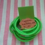 ยางยืดแบบกลมสีเขียวสดใส ขนาด 0.3 cm ราคาขายต่อ 1 หลา