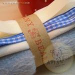 เซตผ้าขนนิ่มสำหรับเย็บตุ๊กตาหมี - โทนสีฟ้า