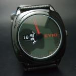นาฬิกาข้อมือชายระบบQuartz EYKI หน้าปัดดำ