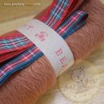 เซตผ้าขนสั้นสำหรับเย็บตุ๊กตาหมี - โทนสีน้ำตาลแดง