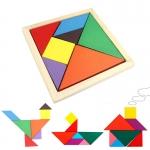 แทนแกรมไม้ Wooden Tangram Puzzles
