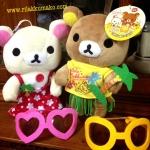 ตุ๊กตาหมี ริลัคคุมะ และ โคะริลัคคุมะ เซ็ตคู่ ชุดอโลฮ่า ALOHA 9นิ้ว