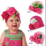 -พร้อมส่ง- หมวกผ้าประดับดอกไม้ hand made ขนาดใหญ่ น่ารักสดใส มี 3 ลายให้เลือก เหมาะสำหรับน้อง 6 เดือน - 2 ปีค่ะ