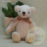 ตุ๊กตาหมีพวงกุญแจผ้าขนสั้น ขนาด 9 cm. - PUFF