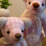 ตุ๊กตาหมีผ้าฝ้ายสีชมพู ขนาด 14 cm. - Herbie