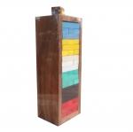 Jenga เกมตึกถล่มไม้แบบสีพร้อมลูกเต๋า(ไซส์กลาง)