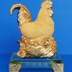 ไก่ฟักไข่ทองฐานแก้ว สูง5นิ้ว กว้าง 3.5นิ้ว