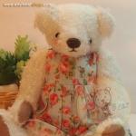 ตุ๊กตาหมีผ้าขนยุ่งสีขาวขนาด 19 cm. - Lilac
