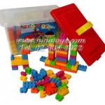 บล็อกตัวต่อชิ้นเล็กสำหรับเด็กโต 320 ชิ้น ในกล่องพลาสติก