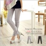 ♥♥ สีเทาพร้อมส่ง ♥♥ กางเกงขายาว ผ้าคอตตอนเนื้อดีนิ่ม