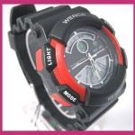 นาฬิกาข้อมือ WEIDE 2 ระบบ ตัวเรือนสีแดงมาใหม่ สไตล์สปอร์ต รูปแบบสวย