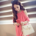 หมดค่ะ  CODE 413 PINK SUGARY CHIFFON STRAPLESS DRESS