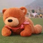 ตุ๊กตาหมีหลับ ตัวใหญ่ ขนาด 2 เมตร สีน้ำตาลเข้ม