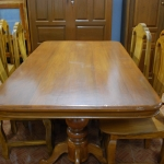 โต๊ะอาหารชุดไม้สัก เก้าอี้ 6 ตัว