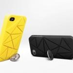 เคสตั้งได้ โดยใช้เหรียญ ยี่ห้อ Urban Coin4 สำหรับ iphone4/4s สีเหลือง