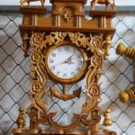 นาฬิกาไม้สักฉลุ