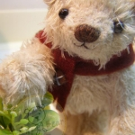 ตุ๊กตาหมีผ้าขนสีครีมขนาด 10 cm. - Muffin