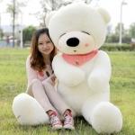 ตุ๊กตาหมีหลับ ตัวใหญ่ ขนาด 2 เมตร สีขาว