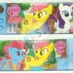กล่องดินสอ 2 ชั้น ลายการ์ตูน Pony (ฟ้า)